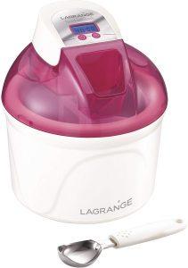 Lagrange 409001 Sorbetière 12 W Ecran LCD Cuve 1,5 L Framboise