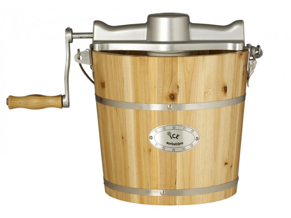 Sorbetière électrique GIVRETO en bois 3.5 L